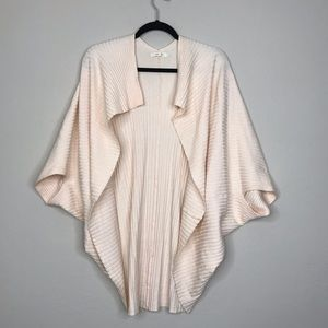 Anthro. Pure + Good rib knit open cocoon cardigan